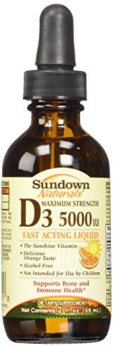 Vitamin D3 Liquid 5000iu Sundownorange Flavor Size 2oz ** Check out this great product by click affiliate link Amazon.com