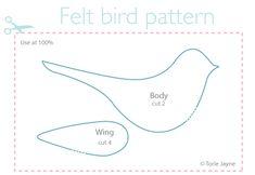 Felt bird pattern free download