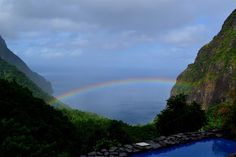 Where we spent out honeymoon.  The rooms have only three walls and an amazing view of the Pitons and the Carribean Sea.  Ladera Resort in St Lucia