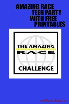 seeshellspace: It was an Amazing Race! (Teen Birthday Party) Full of details and all the free printables you will need to make your next party AMAZING!