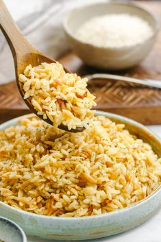Easy Rice Pilaf, Wild Rice Pilaf, Brown Rice Pilaf, Rice Side Dishes, Side Dishes Easy, Main Dishes, Rice Recipes, Cooking Recipes, Top Recipes