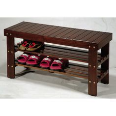 Roundhill Furniture Solid Wood Entryway Bench | Wayfair