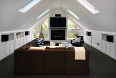 contemporary media room by Ashley Roi Jenkins Design, LLC