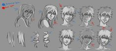 Face lighting tips due to common request. >.< Well this is obviously limited to anime and lighting really depends on the shape of someones face. the guy has a more pronounced bridge while the...
