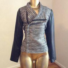 Fabulous jacket with vegan leather sleeves Fabulous jacket with vegan leather sleeves. Jackets & Coats