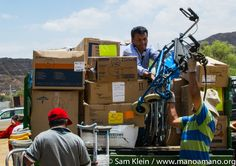 Donating Thousands of Pounds of Medical Supplies in Bolivia - read more about Mano a Mano's distribution event on October 8, 2016 giving away donated medical supplies to dozens of health organizations throughout Bolivia.