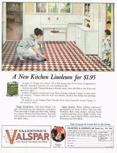 1920's BIG Old Vintage Valspar Varnish Retro Kitchen Decor Art Print Ad.JPG
