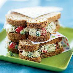 Chicken Salad Sandwiches With Pesto