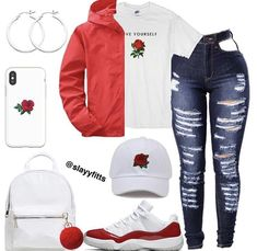 everyday outfits for moms,everyday outfits simple,everyday outfits casual,everyday outfits for women Baddie Outfits Casual, Cute Swag Outfits, Cute Outfits For School, Dope Outfits, Stylish Outfits, Stylish Dresses, Jordan Outfits For Girls, Teenage Girl Outfits, Teen Fashion Outfits