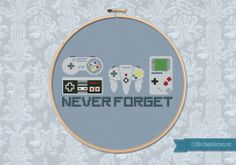 Never Forget - Nintendo cross stitch pattern