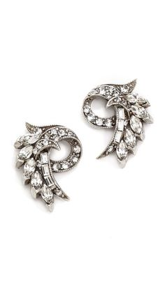 Shop now: Ben-Amun crystal fan earrings