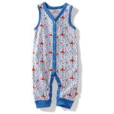 Zutano Unisex-baby Infant Crabby Sleeveless Romper $28.00