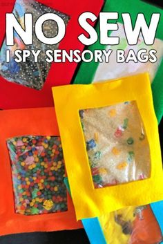 ideas baby diy toys learning for 2019 Diy Sensory Toys, Diy Fidget Toys, Sensory Bags, Sensory Activities, Infant Activities, Diy Toys, Sensory Play, Sensory Rooms, Toy Diy