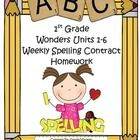 If you use the McGraw-Hill Wonders Reading Series, these homework contracts will motivate your students by making spelling homework fun! Students c...