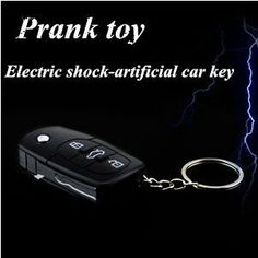 Creative Artificial Car Key Electric Shock Prank Toy  Free Shipping $5.79