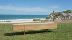 Hans Lowline - designed & manufactured in Perth. Here in Tasmanian Oak Veneer. Timber Buffet   Perth Furniture   Custom Lifestyle Furniture http://www.lifestylefurniturewa.com.au/product/living-room-furniture-perth/hans-tv-low-line/