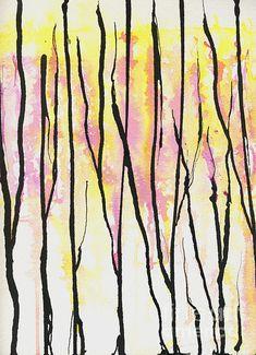 """Epiphany"" mixed media painting.  Prints available.  #trees, #acrylicpainting #mixedmediapainting, #abstractart"