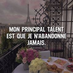 Mon principal talent est que je n'abandonne jamais. Aime et commente si tu es d'accord! ➡️ for more! - Learn how I made it to in one months with e-commer Intj, Motivational Quotes, Inspirational Quotes, Miracle Morning, Quote Citation, Story Quotes, Meaningful Words, Quotes About Strength, Positive Affirmations