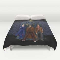 The best regeneration of Doctor who Duvet Cover #duvetcover #cover #bedroom #davidtennant #10th #doctor #fog #mist #doctorwho #tardis #dalek #11thdoctor #12thdoctor #mattsmith #thetenthdoctor #eleventhdoctor #halloween