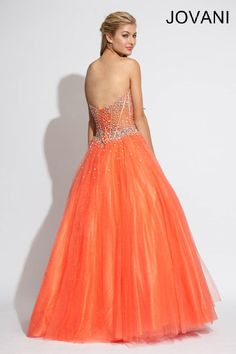 Strapless Jovani corseted gown