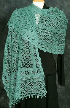 pattern free sewing book | ... knitting arabesque shawl lace pattern image by www.sarahsyarns.com