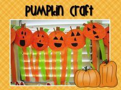 Pumpkin Mini-Unit FREEBIE! Cute pumpkin craft