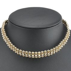 Hollow Out Rhinestone Choker Necklace #hats, #watches, #belts, #fashion, #style