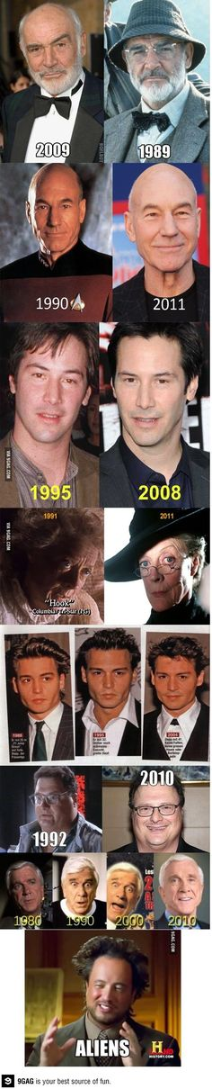 Celebrities Then Vs Now Haha Funny, Funny Memes, Hilarious, Lol, Funny Stuff, Funny Shit, Funny Things, Random Stuff, Satire