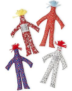 """Another fun idea from Paper Source! """"For those days when nothing goes right and you just want to hit the wall, take solace in a Dammit Doll - a friend you can slam, whack, pull and squeeze while yelling your favorite obscenities. Sewing Crafts, Sewing Projects, Diy Crafts, Sewing Ideas, Diy Projects, Damnit Doll, Doll Patterns, Sewing Patterns, Quirky Gifts"""
