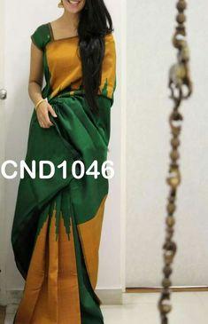 Indian Attire, Indian Wear, Indian Outfits, Kanchipuram Saree, Banarasi Sarees, Saree Dress, Sari, Indian Silk Sarees, Simple Sarees