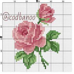 Mini Cross Stitch, Cross Stitch Borders, Cross Stitch Rose, Cross Stitch Alphabet, Cross Stitch Flowers, Cross Stitch Designs, Cross Stitching, Cross Stitch Embroidery, Cross Stitch Patterns