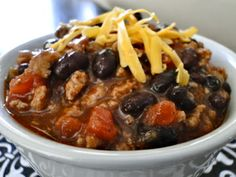 week #2 Tar Heel Taste Bud: Turkey Black Bean Chili