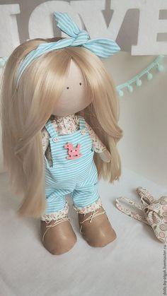 Купить Интерьерная кукла - кукла ручной работы, кукла в подарок, кукла Тильда, большеножка, подарок