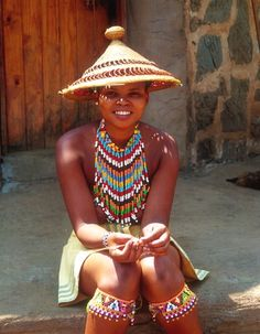 Photo of Young Traditional Zulu Woman in KwaZulu Natal, South Africa