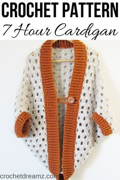 Crochet Cardigan Pattern that works up in 7 hours or less-Crochet Dreamz - Crochet Cardigan Pattern, Crochet Jacket, Crochet Clothes, Crochet Sweaters, Crochet Shrugs, Crochet Shawl, Crochet Top, Crochet Cocoon, Clothing Patterns