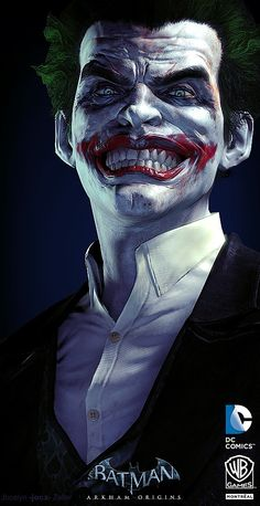 Joker Digital Art by JocelynZeller : Source : http://www.inspirefirst.com/2013/12/03/digital-art-jocelynzeller/