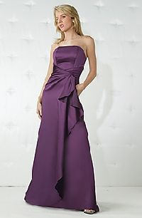 purple bridesmaid dresses - I like the graceful side sash