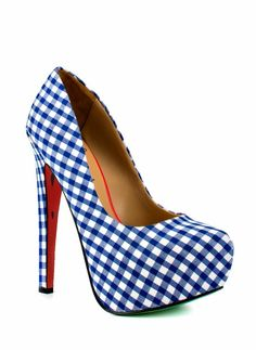 Blue Gingham Pumps