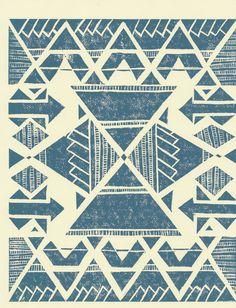 cream and blue lokahi print on etsy