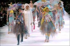 "Aya Takano ""rainwear"" sub-collection for Issey Miyake FW 2004 RTW"