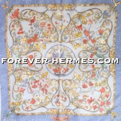 "In store! http://forever-hermes.com #ForeverHermes this adorable Hermes Paris pocketscarf in chiffon by Zoe Pauwels titled ""Pierres de l'Orient et de l'Occident featuring cute birds semiprecious stones precious stones flowers jewels for dapper gentleman necktie men's fashion men's necktie womenswear womenswear #Hermes carre"