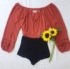 - ARNHEM (@arnhem_clothing) on Instagram: Simplicity in Shiloh 🌻 The Shiloh Blouse in Paprika & Black Crochet Cardamon shorts.