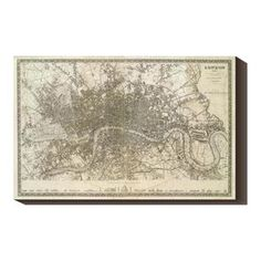 London, England 1845 40x26 Map now featured on Fab.