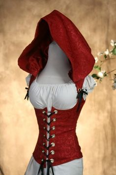 Really Hot Red Riding Hood Corset CUSTOM FIT by damselinthisdress