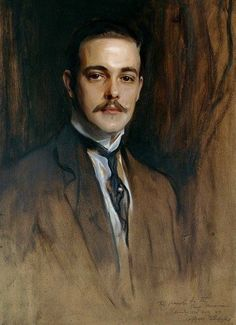 Portrait of King D. Manuel II of Portugal by Philip de Laszlo 1923 Dom Manuel, Portuguese Royal Family, Art Of Man, Sketch Inspiration, Most Beautiful Man, Portrait Art, Malm, The Past, Royalty