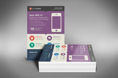 Flat design business flyer comes with 3 color variations and two different sizes. This flyer is perfect for all types of businesses looking to give themselves an up-to-date modern flat