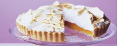 This orange & passion fruit meringue pie recipe has a fragrant fruit base, which is balanced by the soft centre and crisp shell of the meringue.