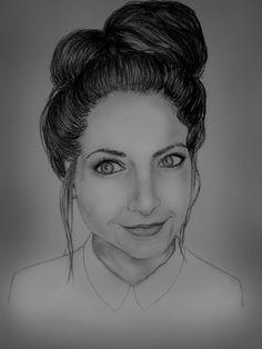 Portrait of Zoella I drew, from YouTube. #art #drawing #YouTube #Zoella280390