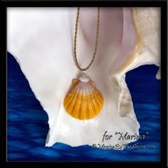 """Custom for """"Marina"""", a """"Country Style"""" Hawaiian Sunrise Shell with shiny white North Shore Puka Shell twisted cord necklace! Nothing says North Shore more than Sunrise Shells and Puka Shells! Natural Surf Art, """"Wearable Aloha"""" from the North Shore of Oahu! And don't be afraid to wear this jewelry in the ocean, Sunrise & Puka Shells love the surf! www.MonicaByTheShore.com"""