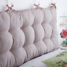 Free Padded headboard sewing tutorial from Torie Jayne